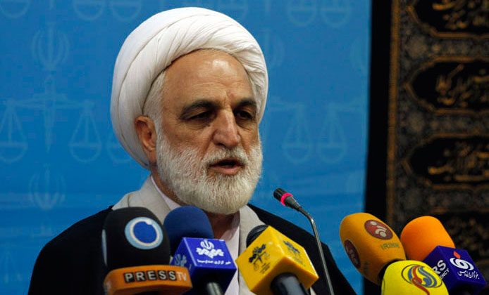 Gholamhossein Mohseni Ejehi, Iran's first deputy of chief justice. (Hasan Shirvani/CC BY 4.0)
