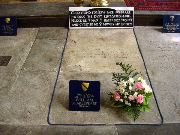 William Shakespeare's grave at Holy Trinity Church in Stratford-on-Avon, England. (David Jones/CC BY)