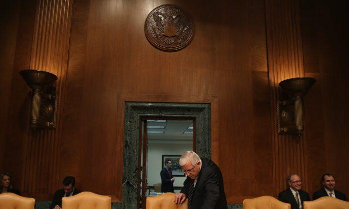 Chairman Michael Enzi (R-WY) in Washington, on Feb. 3, 2015. (Mark Wilson/Getty Images)