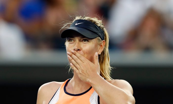 Maria Sharapova is one of just 10 women to achieve the career Grand Slam. (Zak Kaczmarek/Getty Images)