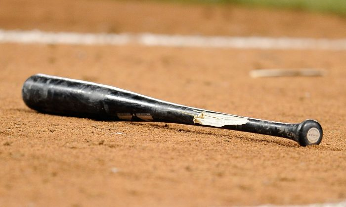 A detailed view of a broken bat during the game between the Pittsburgh Pirates and the Cincinnati Reds on June 17, 2014. (Joe Sargent/Getty Images)