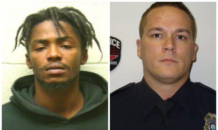 Suspect Michael Kilpatrick, left; and Murfreesboro police officer James O'Rourke. (Murfreesboro Police Department)