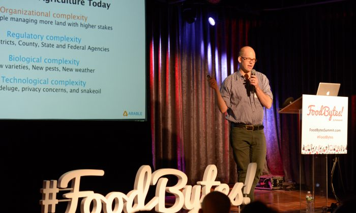 Arable CEO Adam Wolf at FoodBytes! Brooklyn on March 3, 2016. (Courtesy of