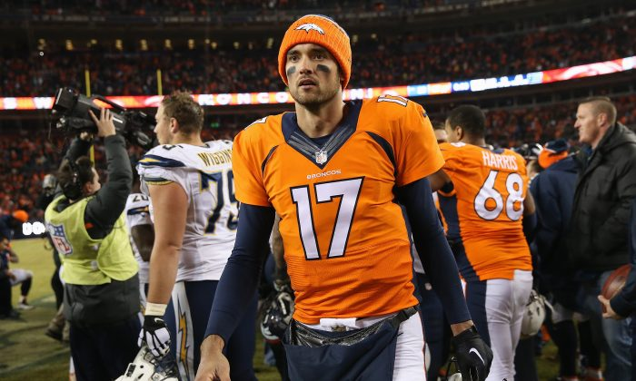 Quarterback Brock Osweiler led the Denver Broncos to a 5–2 record as a starter in 2015. (Doug Pensinger/Getty Images)