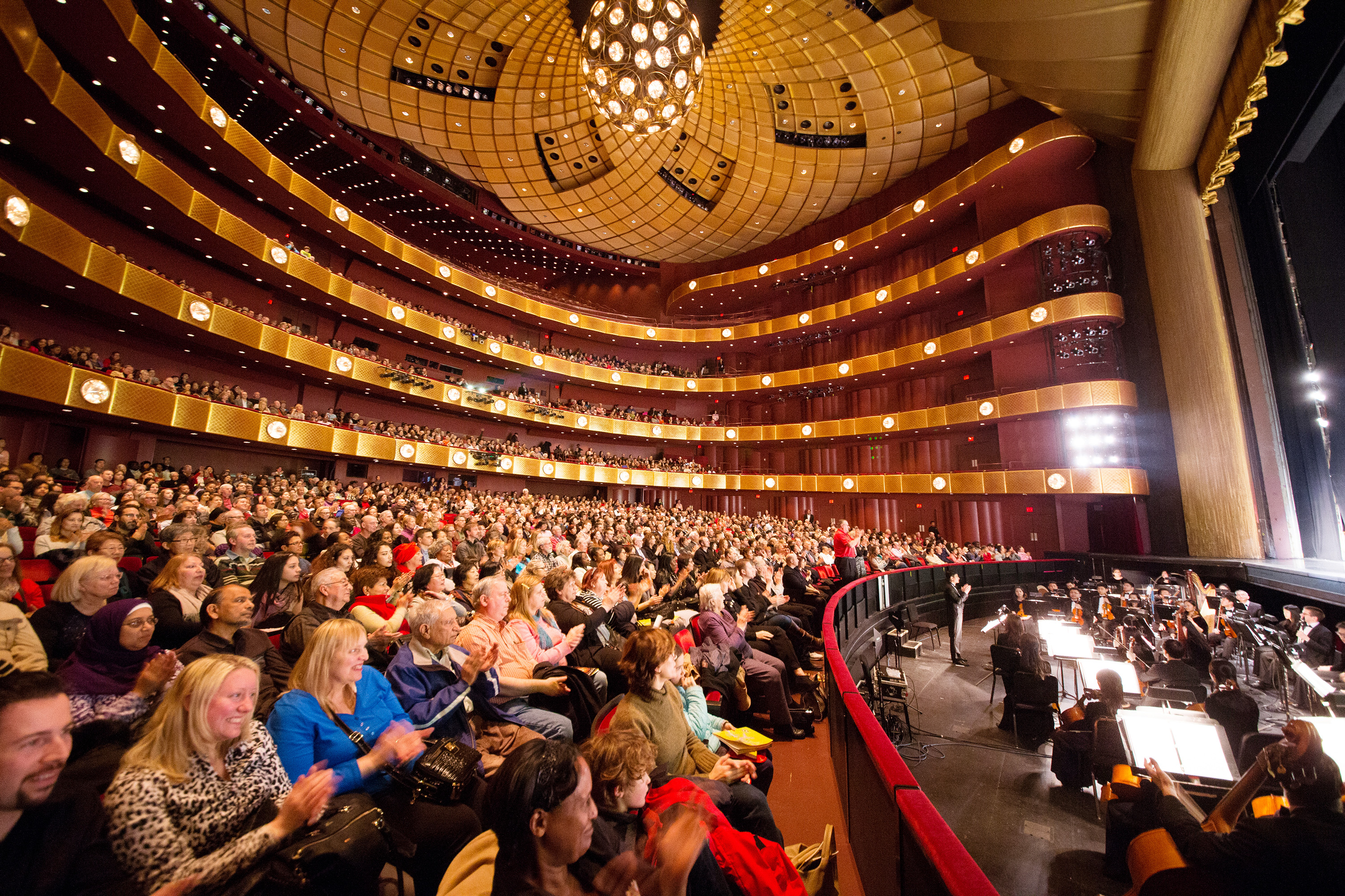 The audience at Shen Yun Performing Arts at the David H. Koch theater at Lincoln Center on March 5, 2016. (Larry Dye/Epoch Times)