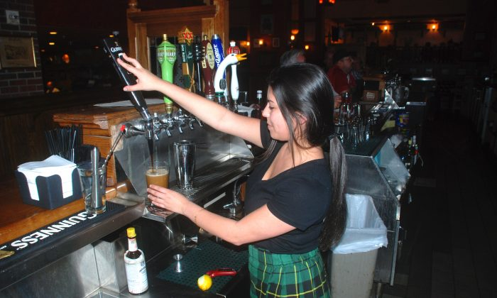 The entire bar was disassembled in Ireland and shipped across the Atlantic where it was installed at Sheraton Orlando North's An Tobar Restaurant. Draft beers and whiskeys are plentiful. (John Christopher Fine, Copyright 2016)
