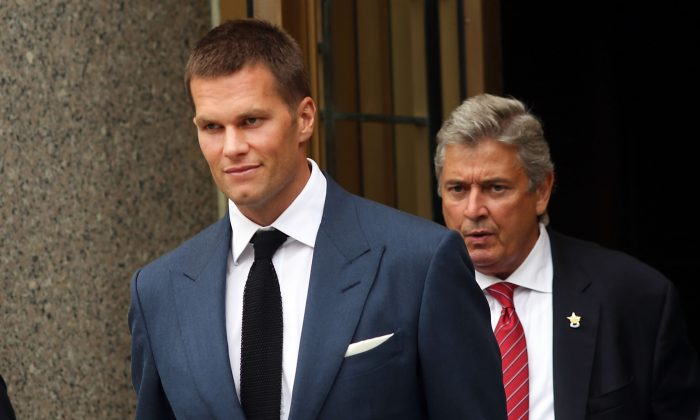 Tom Brady of the New England Patriots was suspended four games by the NFL for his part in deflategate, but the sentence was overturned. (Spencer Platt/Getty Images)