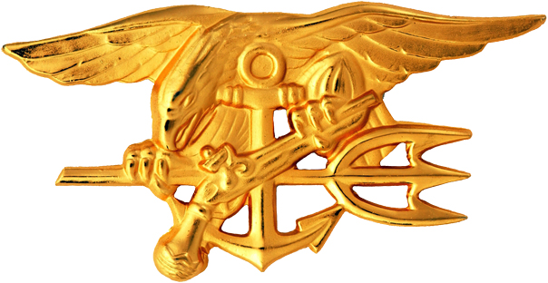 Navy Special Warfare Trident insignia worn by qualified U.S. Navy SEALs. (Courtesy of U.S. Navy)