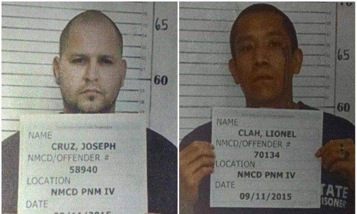 Joseph Cruz (L) and Lionel Clah. (New Mexico State Police)