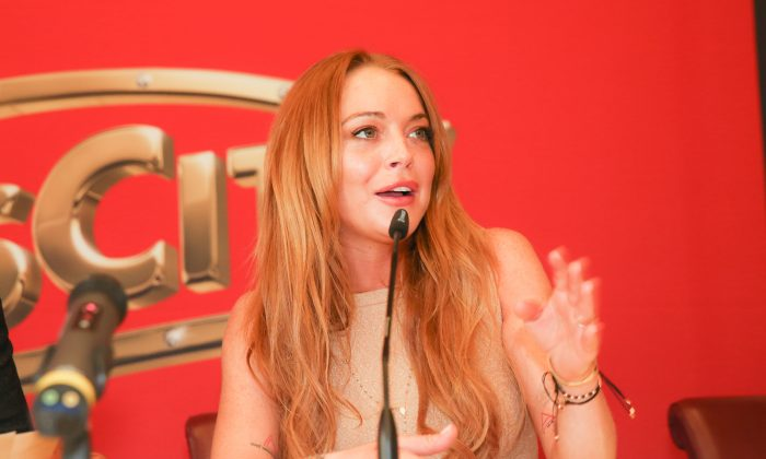 Lindsay Lohan attends the press conference during 'Weisses Fest 2014' in Linz, Austria on July 26, 2014.  (Monika Fellner/Getty Images)