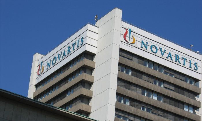 The Novartis headquarters at Basel, Switzerland. Novartis is the manufacturer of the asthma drug Xolair. (Andrew Hecht/Wikimedia, CC BY 2.0)