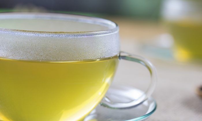 Cup of hot green tea (Sasa Komlen/iStock)