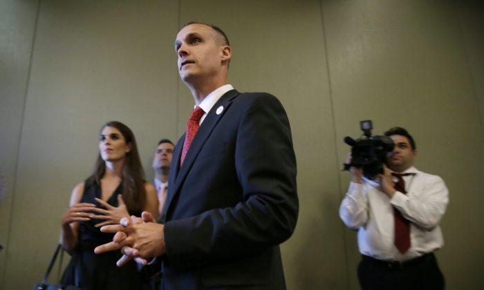 Donald Trump campaign manager Corey Lewandowski in a file photo. (AP Photo/Charlie Neibergall)
