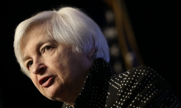 Federal Reserve Board Chairwoman Janet Yellen delivers remarks in Washington, D.C., on Dec. 2, 2015. (Win McNamee/Getty Images)