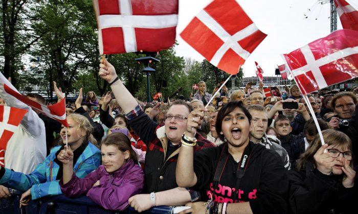 Tivoli in Copenhagen Denmark. (Jens Dresling/Polfoto via AP)