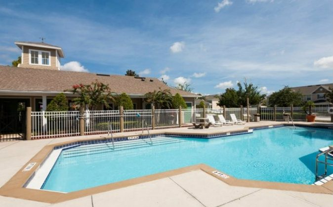 The Clubhouse pool, picture above, is one of the two pools at the gated community. (Courtesy of Waterford East Apartments)