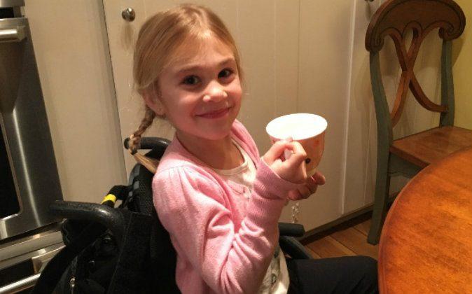 Eden in her wheelchair. (GoFundMe)