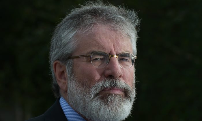 Sinn Fein President Gerry Adams pictured at a press conference at Stormont on September 21, 2015. (Photo by Charles McQuillan/Getty Images)