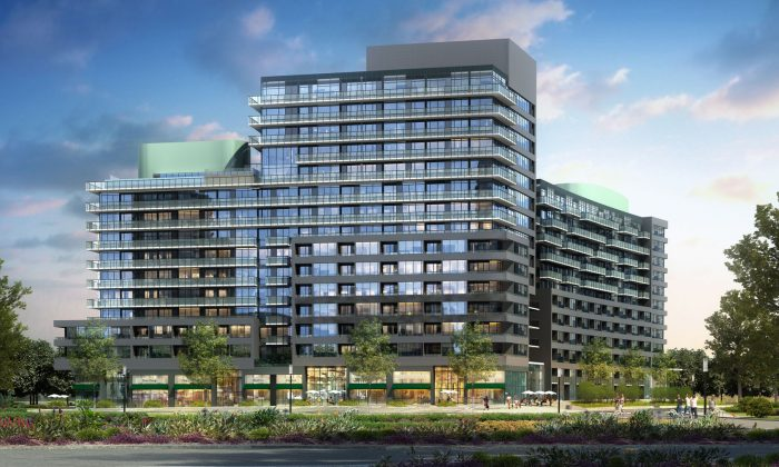 Rendering of Canary Park Condominiums. Canary District will catch the eyes of the world as it transitions from a home for athletes of the 2015 Pan American Games into a celebration of life and nature, family and community. (Baker Real Estate Inc.)