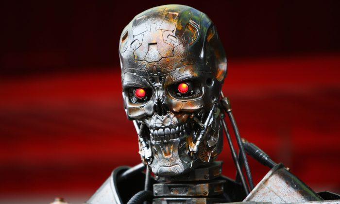 The Terminator robot is seen in the paddock following qualifying for the Spanish Formula One Grand Prix at the Circuit de Catalunya on May 9, 2009 in Barcelona, Spain. (Clive Mason/Getty Images)