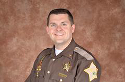 Sergeant Jordan J. Buckley, 35 of the Howard County Sheriff Department is seen in an undated photo provided by the Indiana State Police. Authorities say Buckly is one of two central Indiana sheriff's deputies who were shot while serving warrants. at about 12:30 a.m. Sunday, March 20, 2016, at a trailer park in Russiaville, which is about 60 miles north of Indianapolis. The officers, Buckley and Deputy Carl A. Koontz, were shot at when they went inside. Rogers says Koontz, who has been with the department for two years, had surgery and is in critical condition. Buckley, a nine-year veteran, is in stable condition.The suspected shooter, who has not been identified, died. (AP Photo/Indiana State Police)