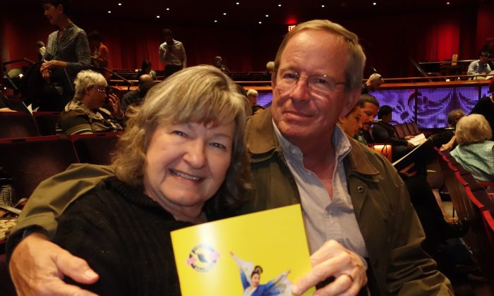 Mrs. and Mr. Cox felt Shen Yun reveals a culture they didn't know really ever existed. (Sarah Guo/Epoch Times)