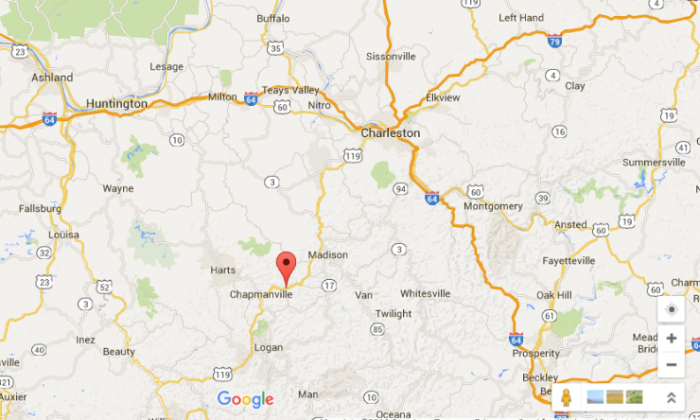 The bow and arrow incident took place in Manila, just outside Chapmansville in West Virginia. (Google Maps)