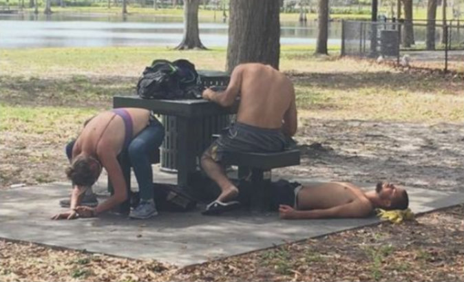 Three people who took spice. (Clearwater Police Department)