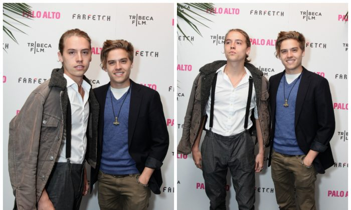 (L-R)Dylan and Cole Sprouse attend a 2014 Tribeca Film Festival after party in April 2014. (Donald Bowers/Getty Images)