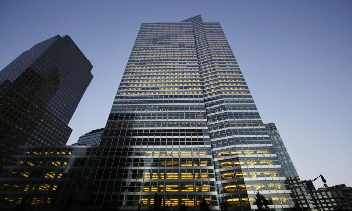 Goldman Sachs headquarters on Oct. 15, 2015 in New York. (Mark Lennihan/AP Photo)