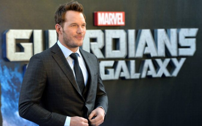 """Chris Pratt attends the UK Premiere of """"Guardians of the Galaxy"""" at Empire Leicester Square on July 24, 2014 in London, England.  (Photo by Anthony Harvey/Getty Images)"""