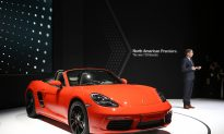 Porsche 911 Catches Fire at NY International Auto Show