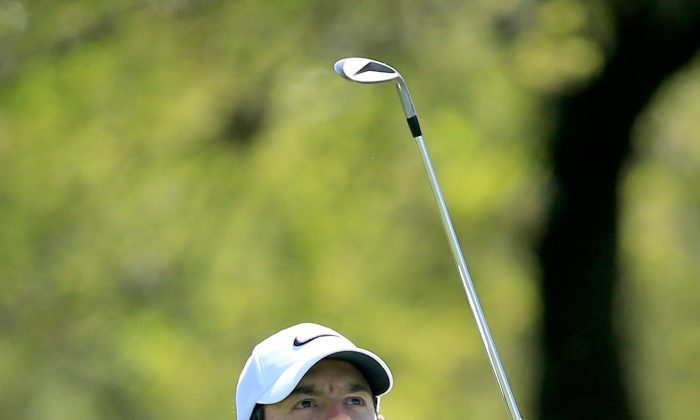 Rory McIlroy in action during practice for the 2016 World Golf Championships Dell Match Play at The Austin Country Club. (David Cannon/Getty Images)