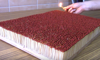 Video: 6,000 Matches Igniting One Another in a Chain Reaction