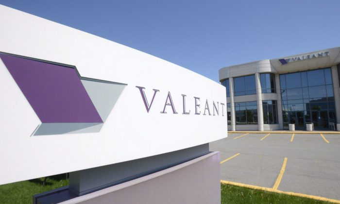 The head office and logo of Valeant Pharmaceuticals in Montreal. (The Canadian Press/Ryan Remiorz)