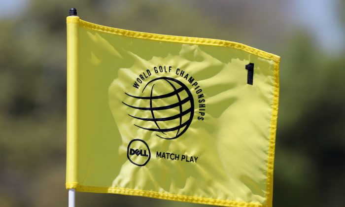 A view of a pin flag during a practice round for the World Golf Championships-Dell Match Play at Austin Country Club. (Tom Pennington/Getty Images)