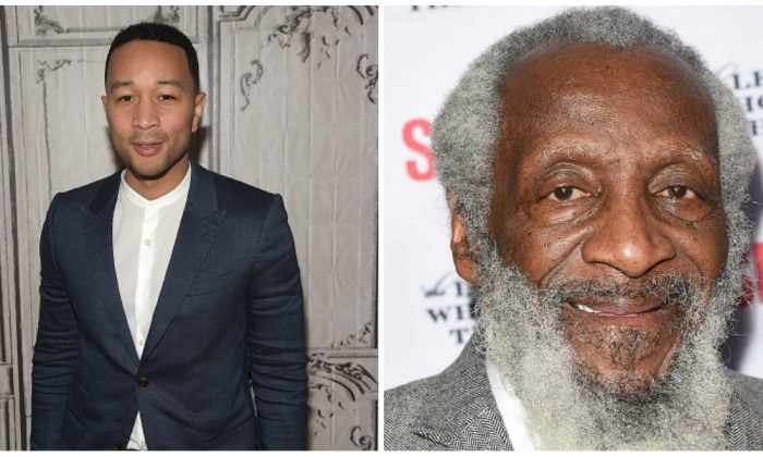 John Legend will produce an off-Broadway play about comedian Dick Gregory.