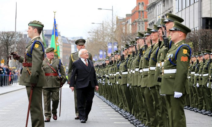 99th anniversary of the 1916 Easter Rising, April 2015. (Irish Defense Forces/Flickr, CC BY 2.0)