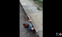 Woman Squeezes Into a Drain to Save Kitten's Life