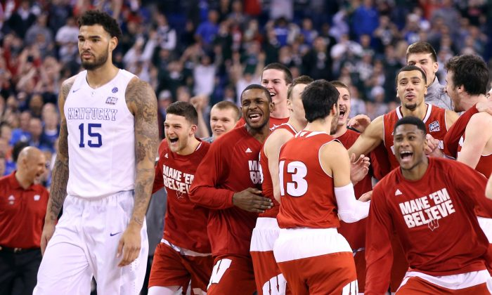 The Wisconsin Badgers did the improbable in upsetting 38–0 Kentucky during the 2015 Final Four. (Andy Lyons/Getty Images)