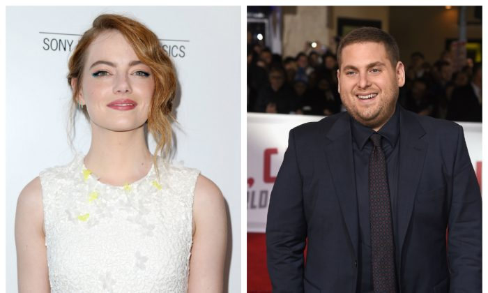"""Actors Emma Stone (L) and Jonah Hill will star in the new Netflix original, """"Maniac."""" (Frederick M. Brown/Getty Images and Kevin Winter/Getty Images)"""