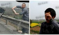 Chinese Fisherman Tears Up Seeing His Fish Looted on Highway