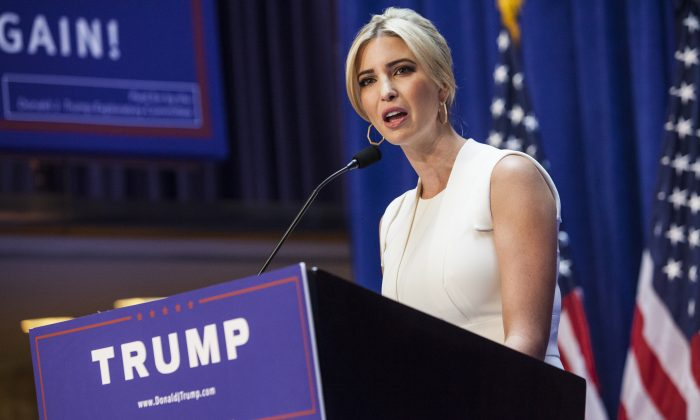 Ivanka Trump arrives to a press event where her father, business mogul Donald Trump, announced his candidacy for the U.S. presidency at Trump Tower on June 16, 2015 in New York City.  (Christopher Gregory/Getty Images)