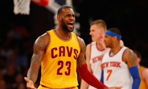 Watch: LeBron James Dunks on New York Knicks and Gets Technical for Taunting Afterward