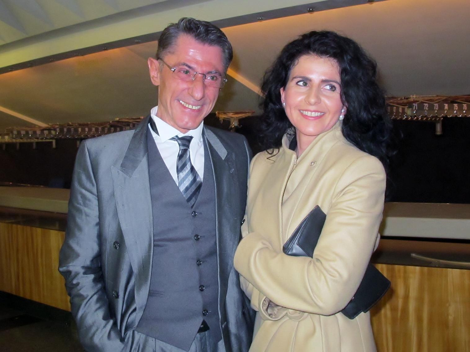 Jean Carlo Dernie and Jitka Opletalova at the Shen Yun performance at the Janacek Theatre in Brno, Czech Republic on March 26, 2016. (Mary Cann/Epoch Times)