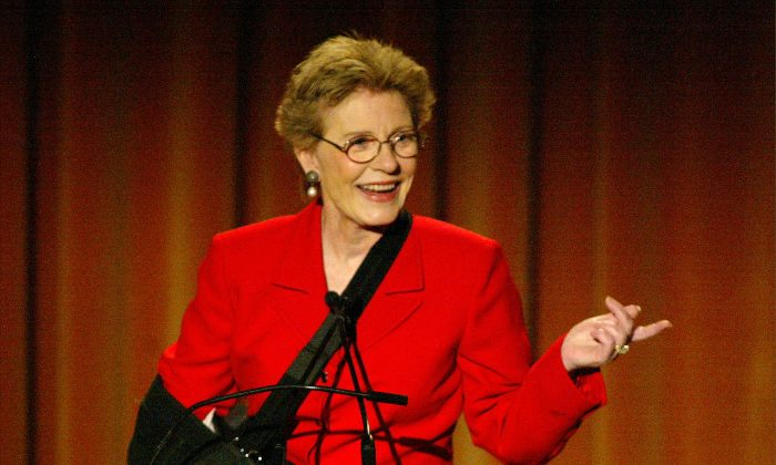 Actress Patty Duke speaks at the Seventh Annual Leadership Awards at the Regent Beverly Wilshire Hotel on May 16, 2003 in Beverly Hills, California.