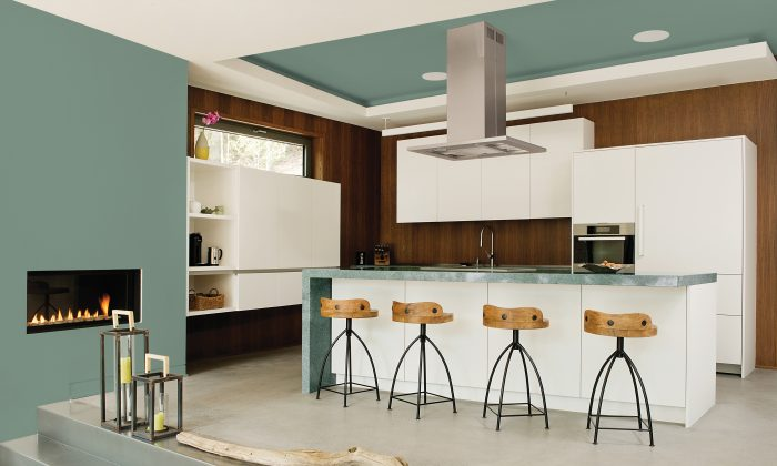 PPG Paints' 2016 colour of the year, Paradise Found, a complex, leafy hue. Green is a trending colour this spring as people respond to wellness trends and the need for calmness in a hectic world. (Angus McRitchie/PPG via AP)