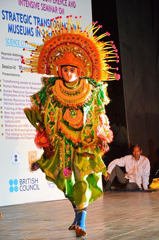 A Chhau dancer. (Bisarup Ganguly)