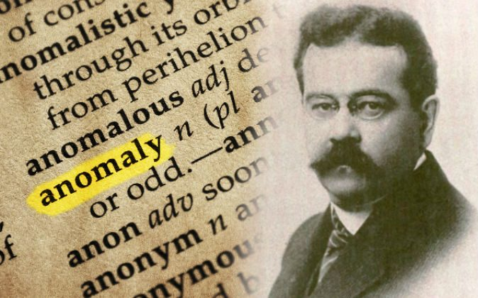 "Charles Fort, 1920. (Public Domain) ""Anomaly"" dictionary entry. (Goglik83/iStock)"