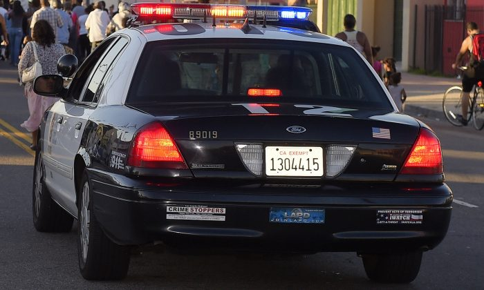 A Los Angeles Police Department car. (AP Photo/Mark J. Terrill)